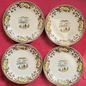 Set/Fairoaks Royal China-4 Saucer 2 Bread Plates